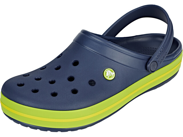 Crocs Crocband Clogs, navy/volt green/lemon